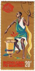 Burundi Tribal dancer