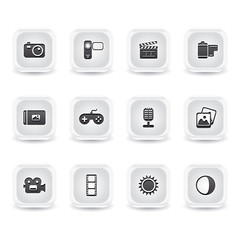 ice square multimedia icons
