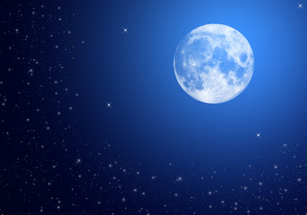 Moon on sky at night