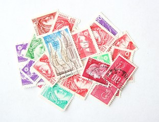 Postage stamps from France
