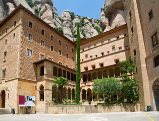 Montserrat abbey in Spain.