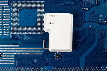 Enter key on circuit board