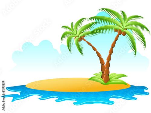 Insel mit zwei palmen stockfotos und lizenzfreie for Koch auf englisch