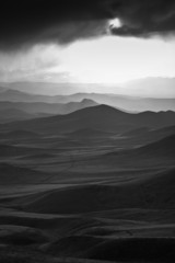 Black and white desert