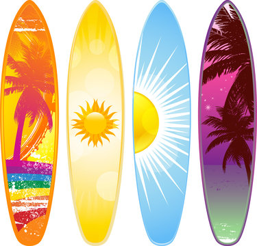 Tropical surf boards