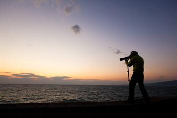 夕日カメラマン02