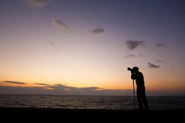 夕日カメラマン06