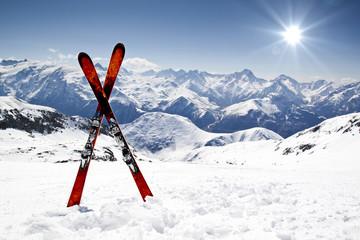 Fototapeta Pair of cross skis obraz