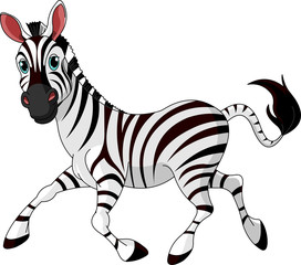 Canvas Prints Fairytale World Funny running Zebra