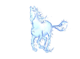 Galloping horse liquid artwork. Freshness concepts series.