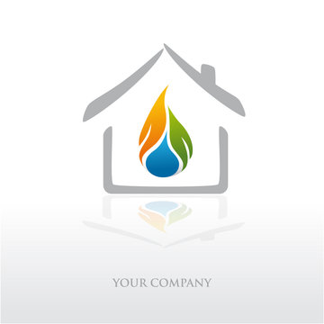 logo entreprise, logo plombier, énergies