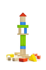Wooden block tower