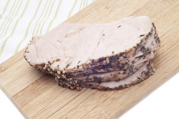 Leftover Slices of Spice Rubbed Pork