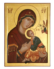 old icon of the Mother of God