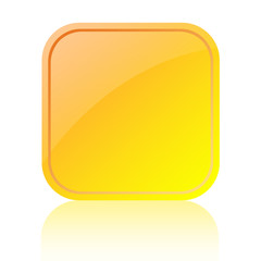 Blank glassy web button