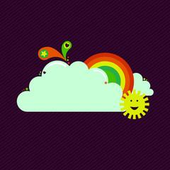 Rainbow Sun banner