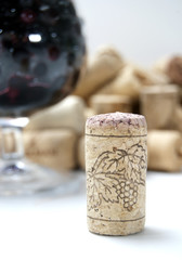 Cork from wine