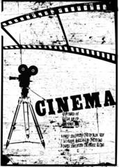 film cinema and black camera poster