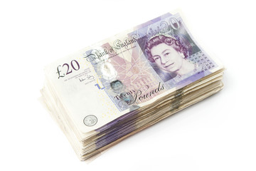 Stack of British Pounds