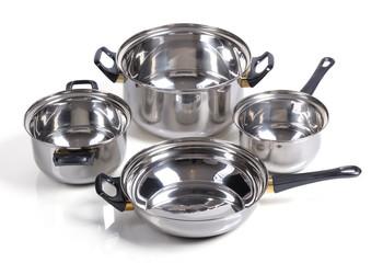 Set of metallic pan