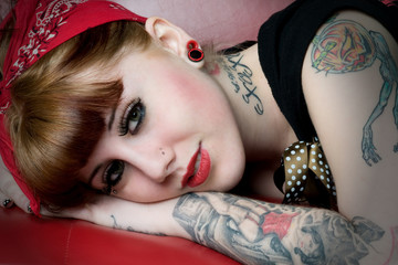 Rockabilly Model Head Shot