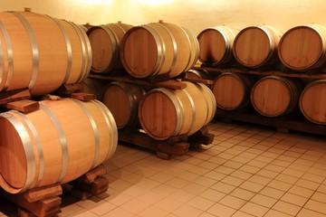 Wall Mural - Weinkeller Barrique Holzfässer Rotwein,Elsass,Frankreich