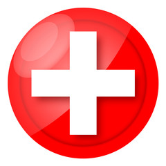 First aid medical sign isolated over white background