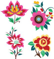 artistic flower emblem design