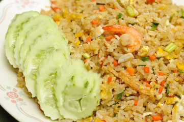 Crab meat and shrimp fried rice