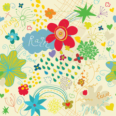 spring love seamless pattern