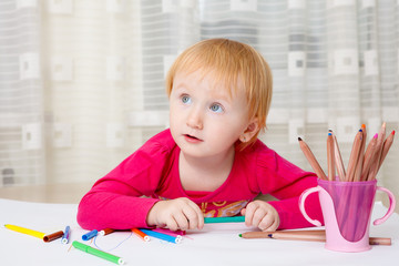 Kid drawing picture