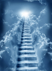 Fototapete - stairs in sky