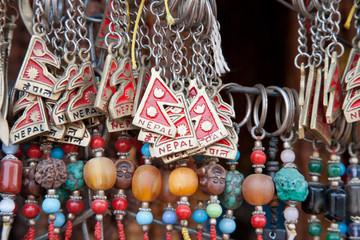 Close up of a selection of souvenirs, Kathmandu, Nepal