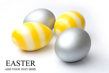 Easter, Silver and yellow egg