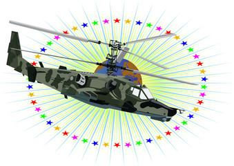 Fotorolgordijn Militair Russian military helicopter