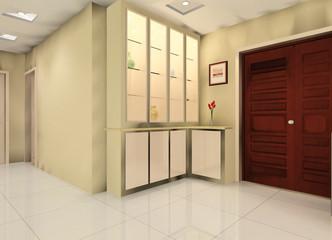 a corridor illustration design