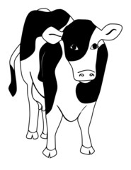 an illustration of a dairy cow