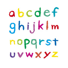 クレヨンのアルファベット 小文字
