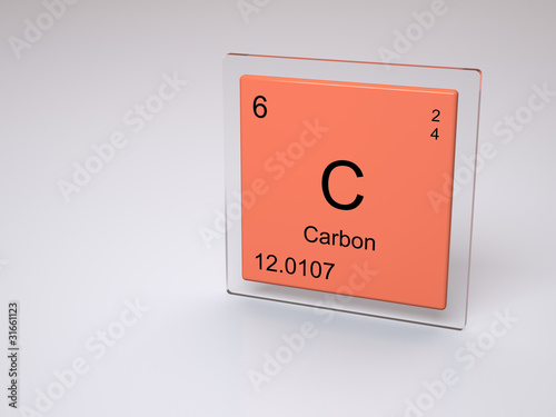 Carbon Symbol C Chemical Element Of The Periodic Table Stock