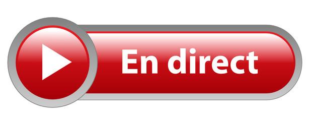 """Bouton Web """"EN DIRECT"""" (live regarder vivre suivre vidéo média)"""