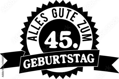 Alles Gute Zum 45 Geburtstag Stockfotos Und Lizenzfreie Vektoren