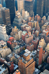 Fototapete - New York City Manhattan skyline aerial view