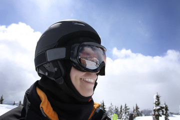 woman in ski outfit
