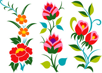 flower set icon design