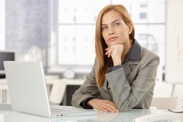 Portrait of determined businesswoman