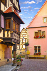 Traditional architecture of Turckheim . El'zas, France