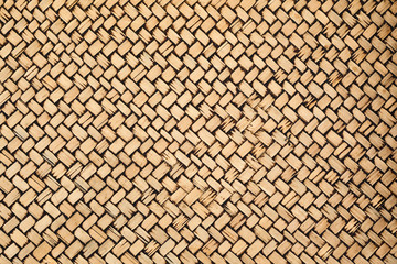 Patterns of woven bamboo