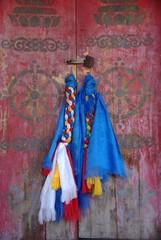 Porte de monastere, Mongolie