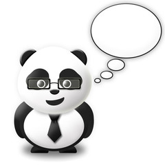 Talking bubble Panda