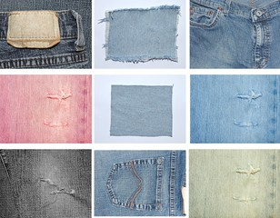 Jeans- Collage